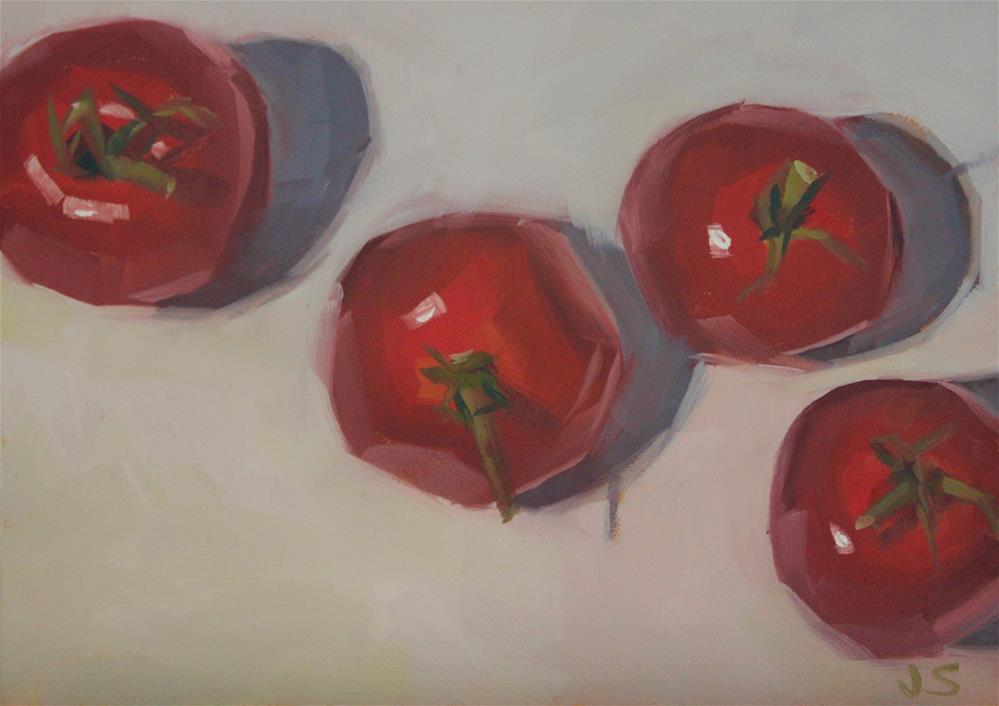 """Red on White"" original fine art by Jamie Stevens"