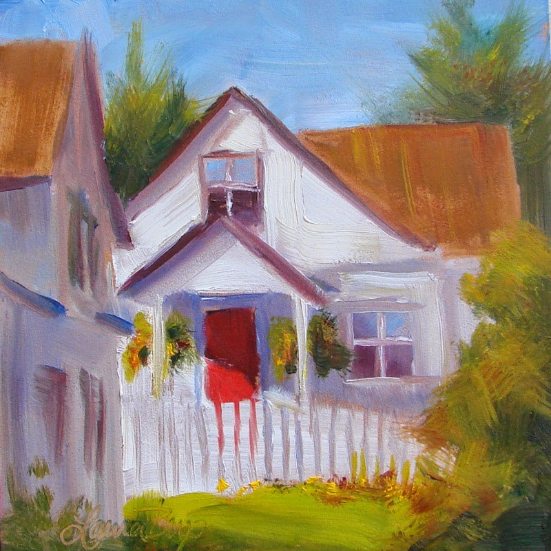 """Red Door 223"" original fine art by Laura  Buxo"
