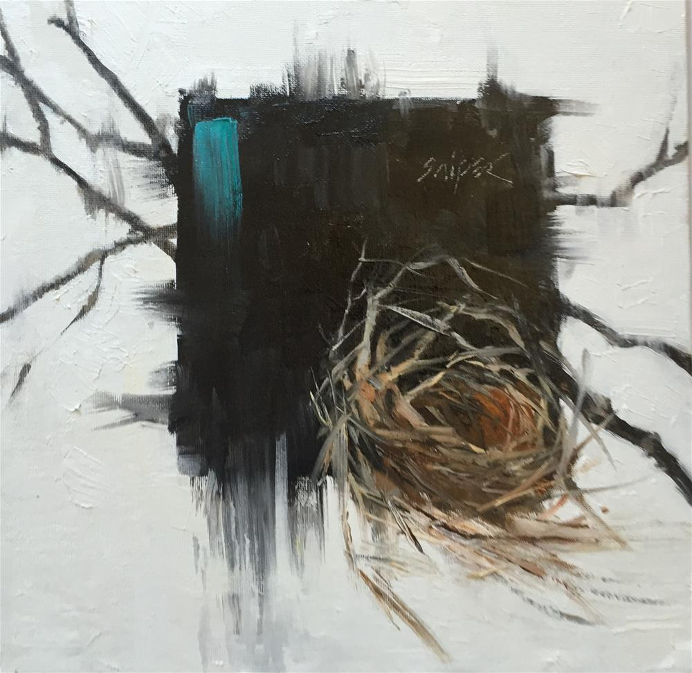 """Bird Nest, Day 3"" original fine art by Connie Snipes"