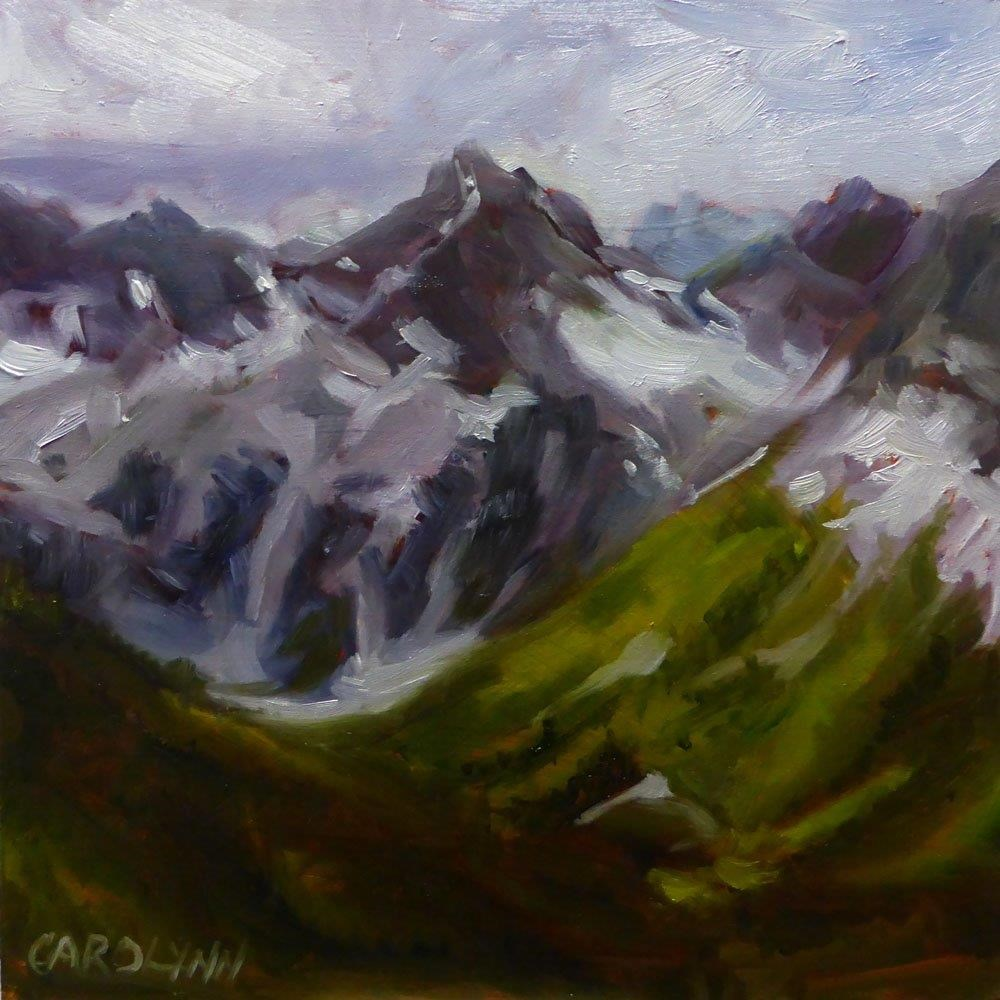 """Hiking Near Mount Macbeth"" original fine art by Carolynn Doan"