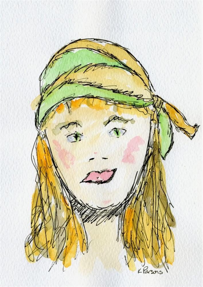 """Hippie Chick"" original fine art by Kali Parsons"