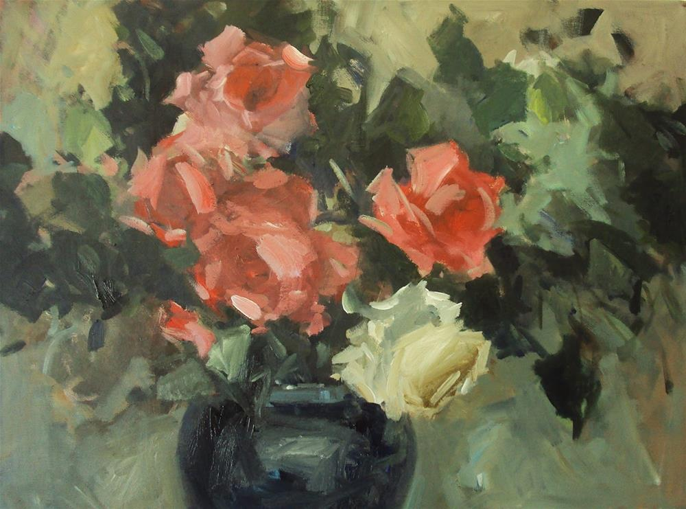 """""""Sunny roses"""" original fine art by Parastoo Ganjei"""