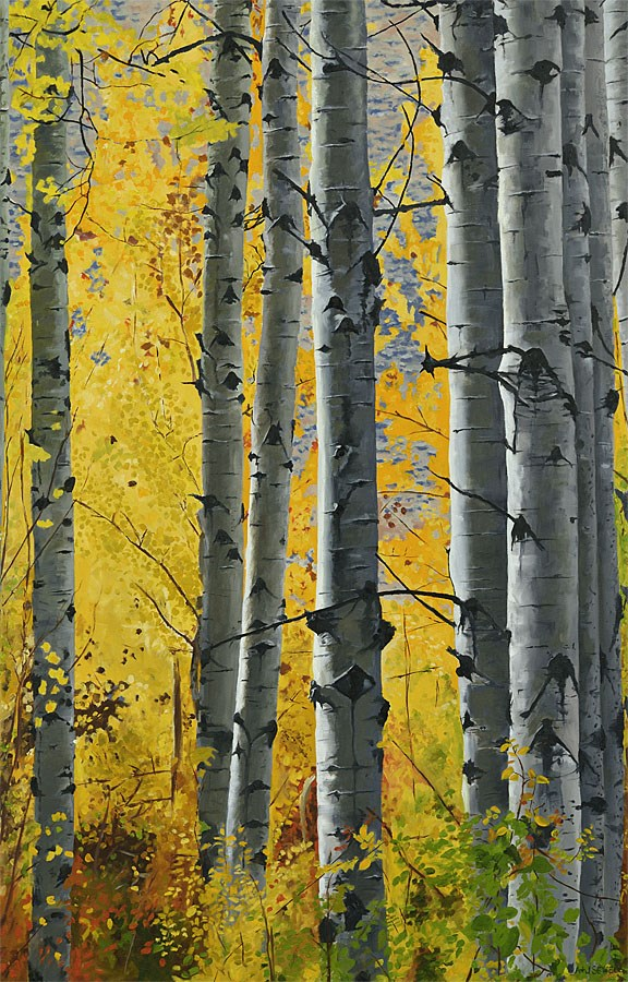 """October Gold"" original fine art by Andy Sewell"