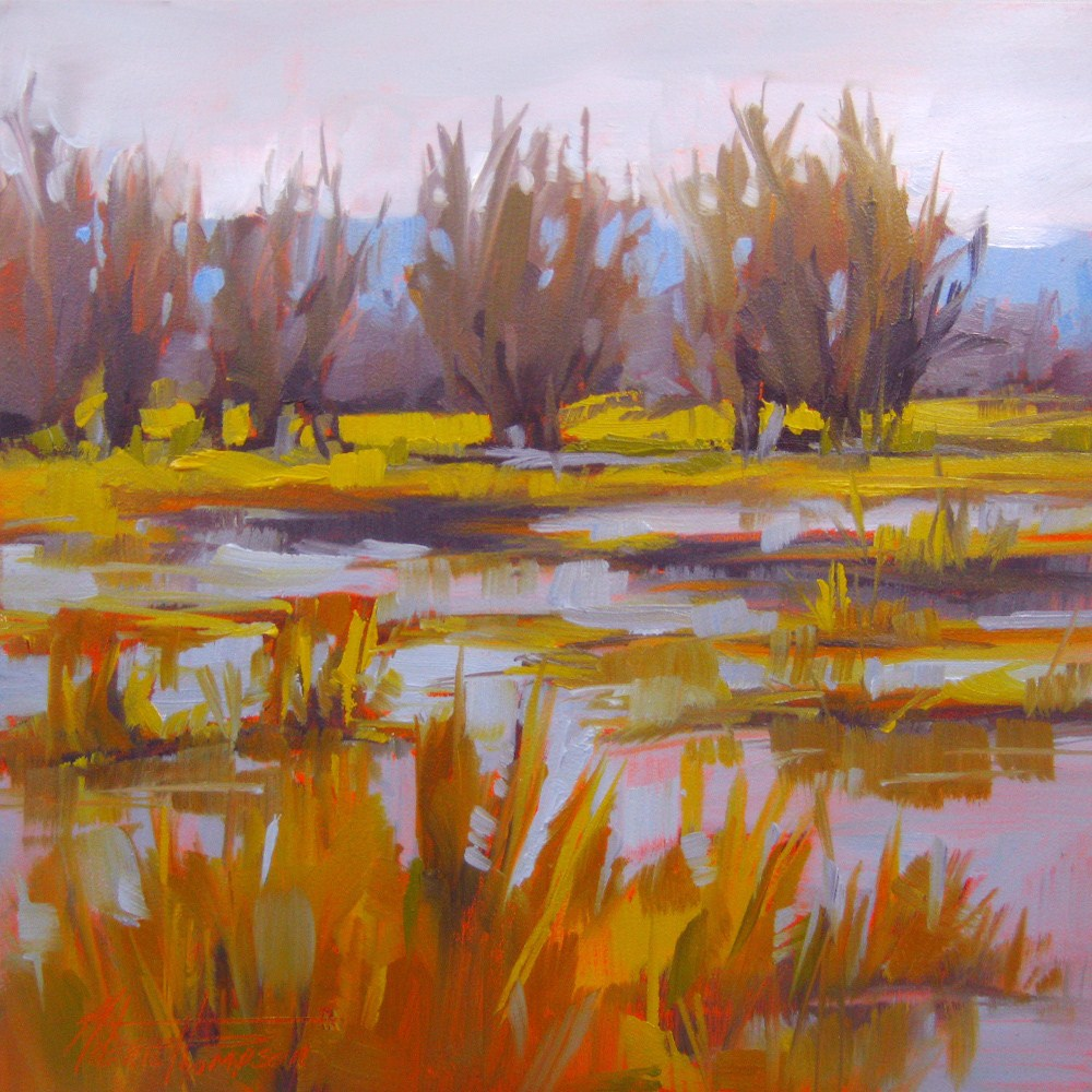 """Winter Delta"" original fine art by Melanie Thompson"