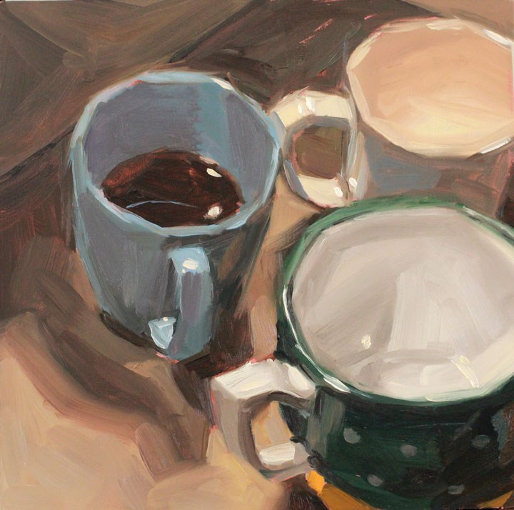 """Leftover Coffee"" original fine art by Nealy May Riley"
