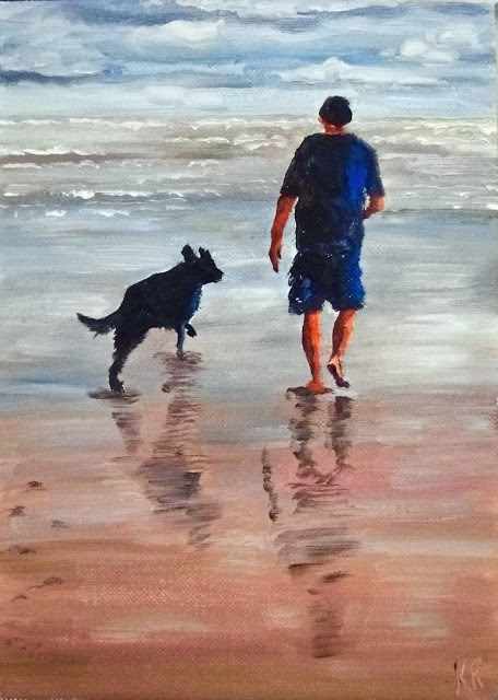 """Morning Walk"" original fine art by Karen Robinson"