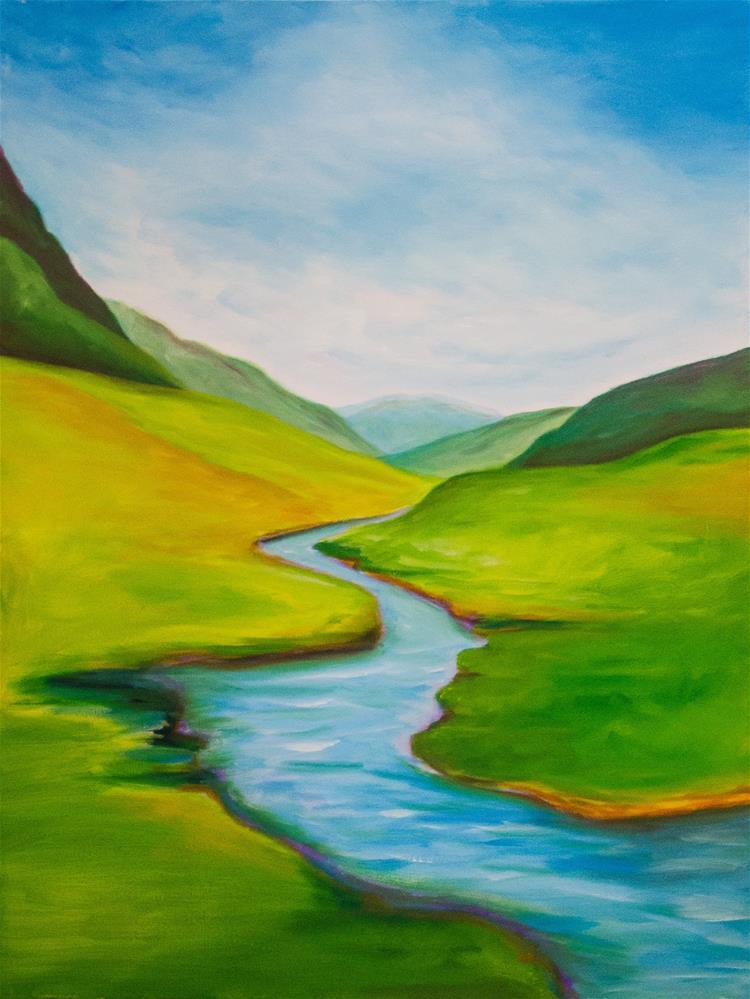 """Mountain Stream"" original fine art by Susan Bertocci"
