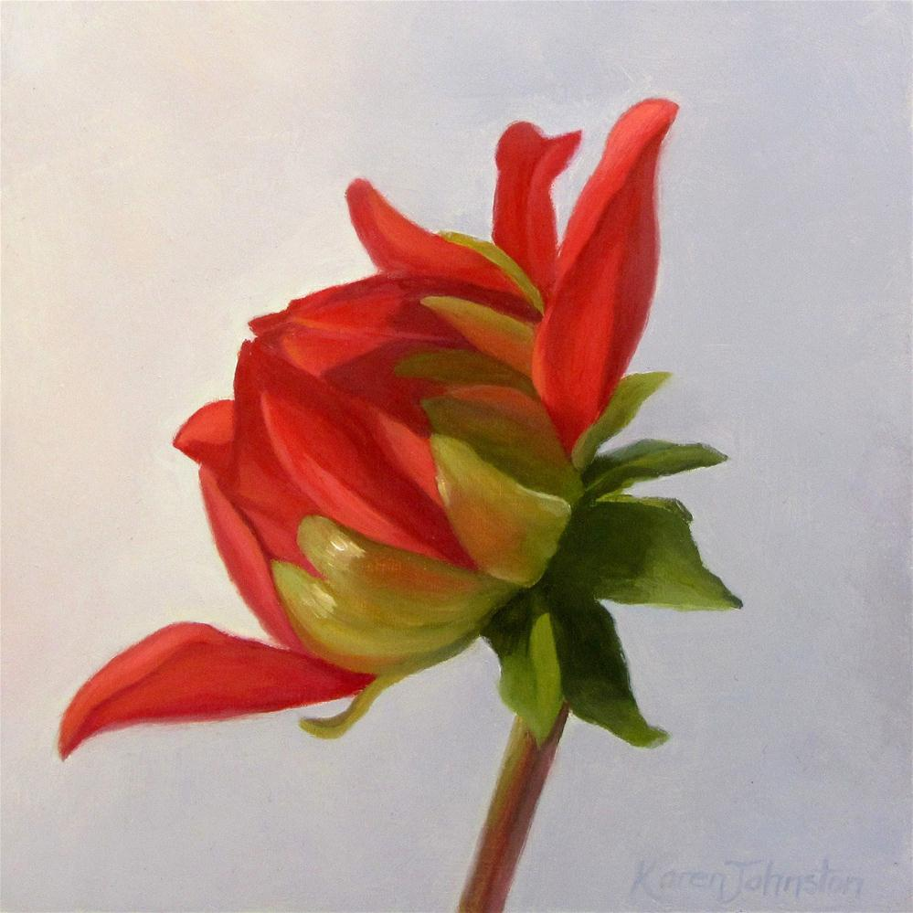 """Dahlia"" original fine art by Karen Johnston"