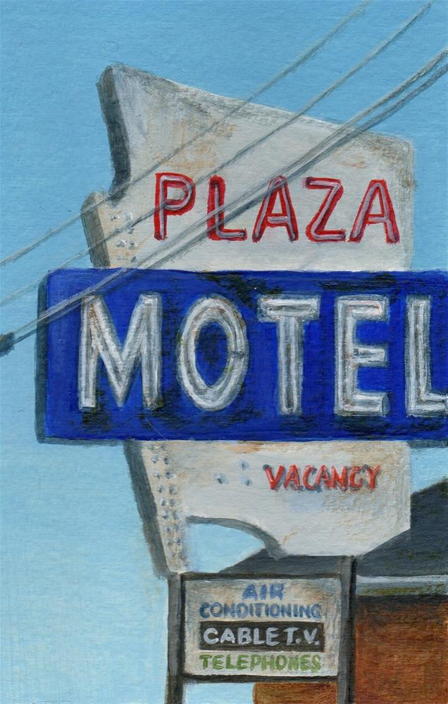 """WYWH - Plaza Motel"" original fine art by Debbie Shirley"