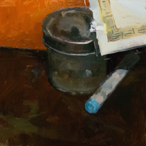 """On the Desk"" original fine art by Randall Cogburn"