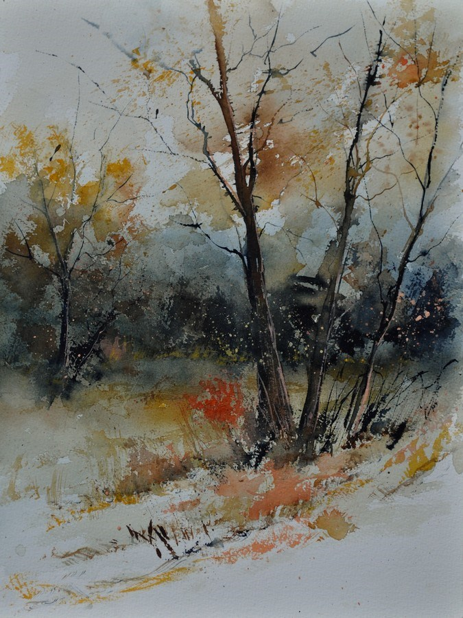 """watercolor 412102"" original fine art by Pol Ledent"