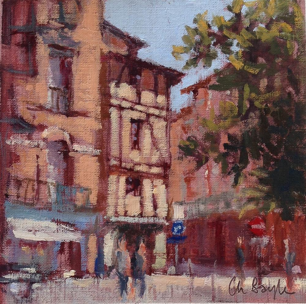 """Rue Croix Baragnon"" original fine art by Christine Bayle"