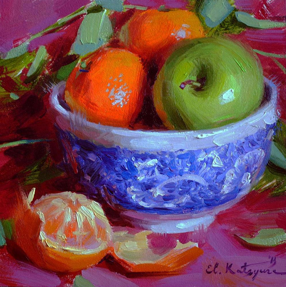 """Spring Fruit"" original fine art by Elena Katsyura"