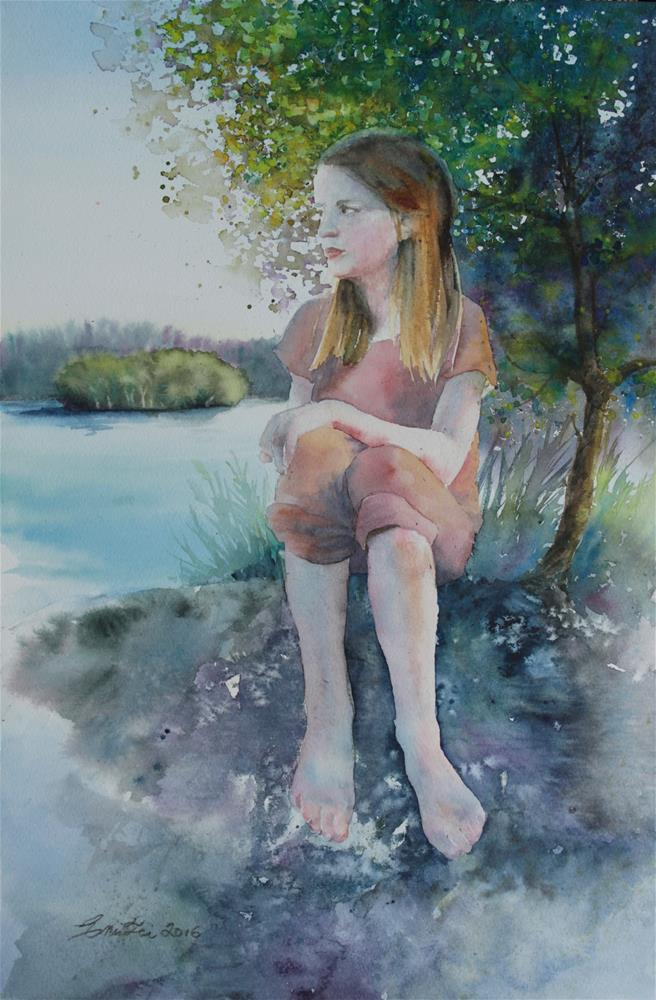"""By the Water"" original fine art by Emilia Leinonen"