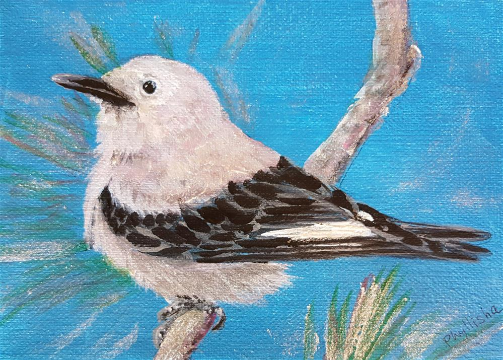 """Clark's Nutcracker"" original fine art by Phyllisha Hamrick"