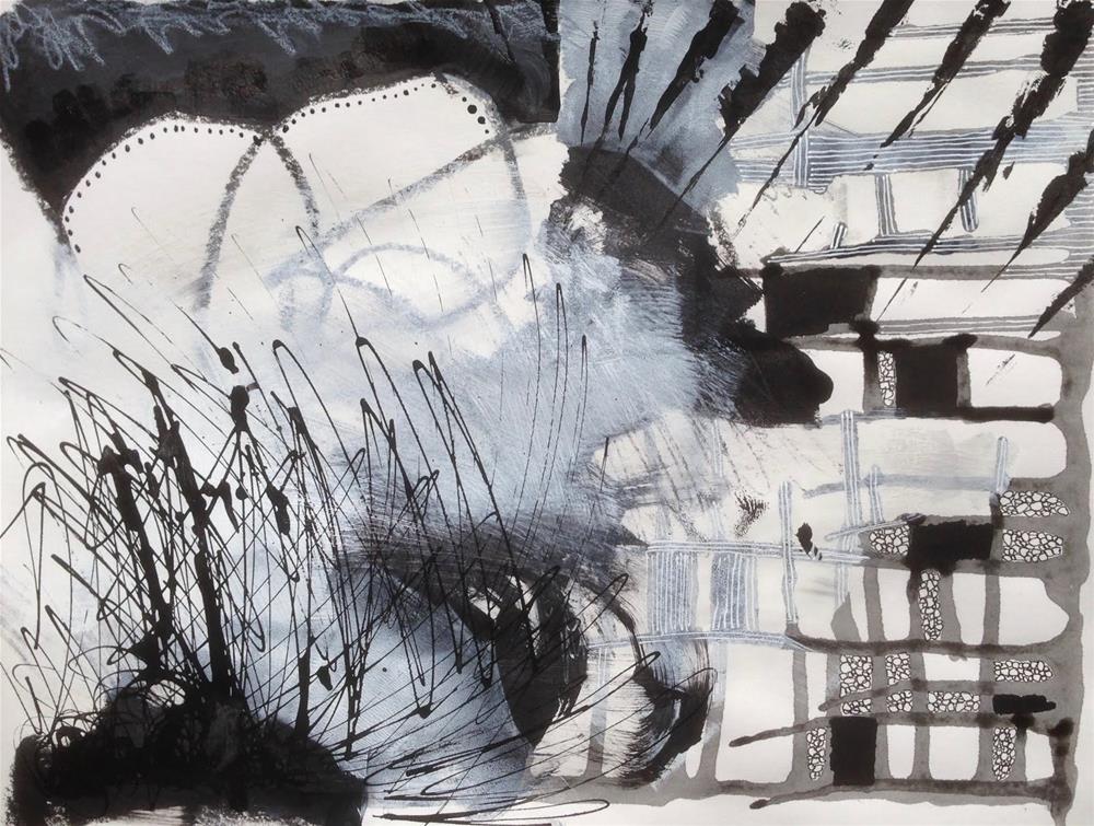 """""""Variety, B&W, Day 5"""" original fine art by Dotty  Seiter"""