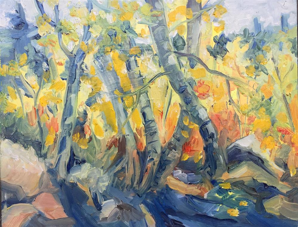 """Golden Forest"" original fine art by Sally Posner"