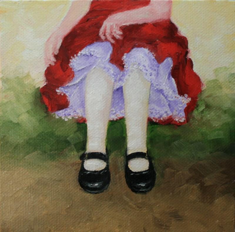 """Lovin' Her New Shoes"" original fine art by Jean Nelson"