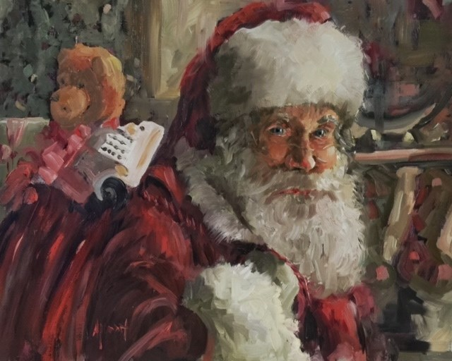 """Santa's Bag"" original fine art by Anne Marie Propst"