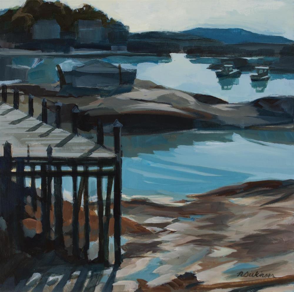 """Stonington Harbor"" original fine art by Nat Dickinson"