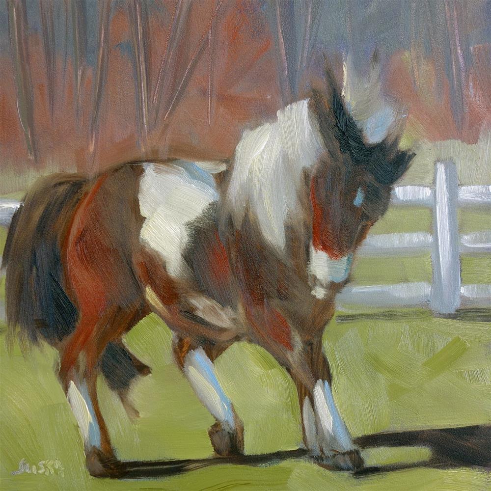 """""""Frisky Pony"""" original fine art by Elaine Juska Joseph"""