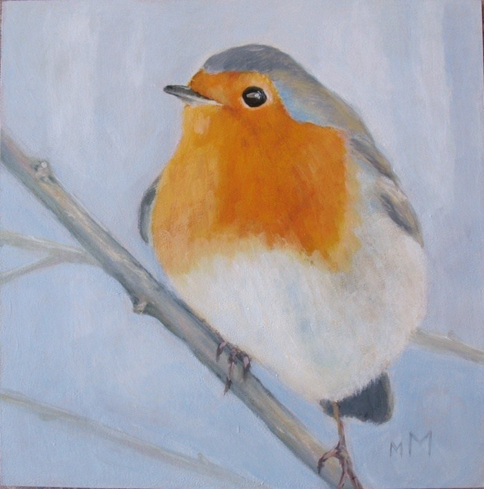 """Winter Robin"" original fine art by Melisa McCurley"