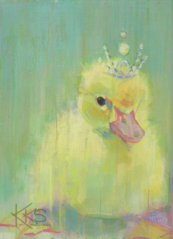 """Little Missy"" original fine art by Kimberly Santini"