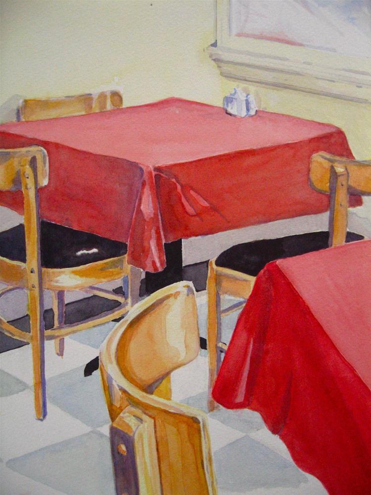 """Table for Three"" original fine art by Judith Freeman Clark"