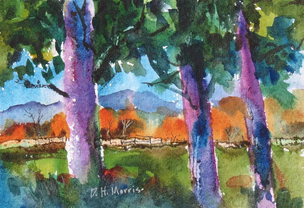 """The Old Fence"" original fine art by Dann Morris"