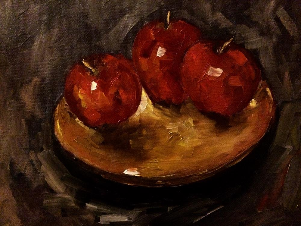 """Red Delicous"" original fine art by Ramya Sarveshwar"