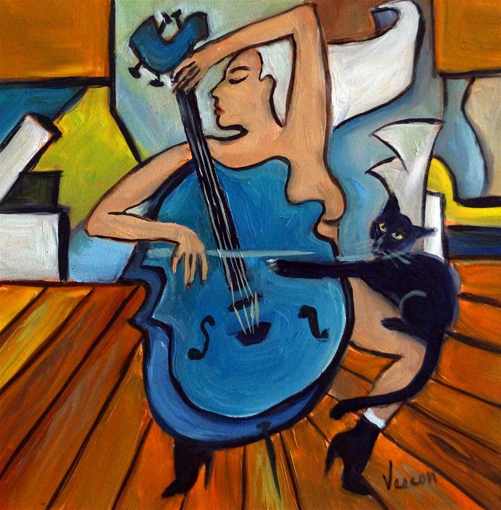 """""""Bleu Sonata"""" original fine art by Valerie Vescovi"""