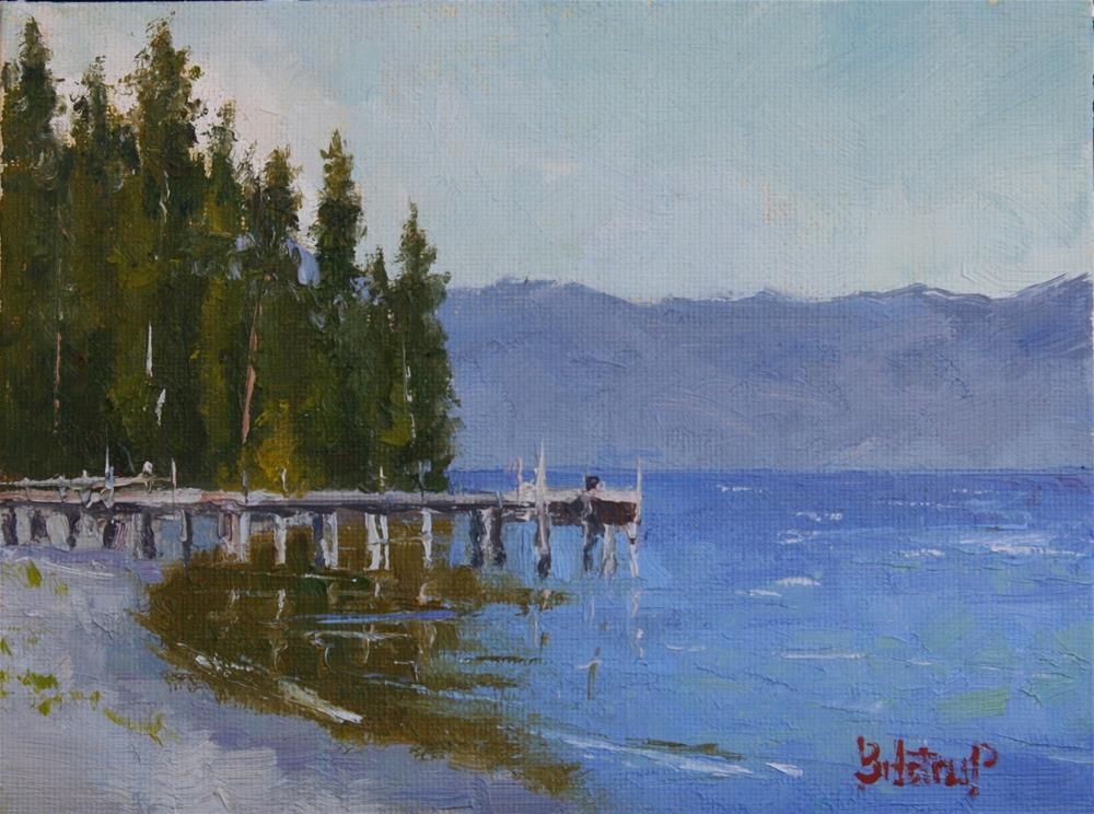"""Tahoe West Shore"" original fine art by Mark Bidstrup"