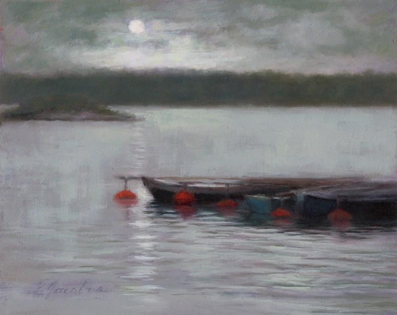 """Moonlit"" original fine art by Linda Jacobus"