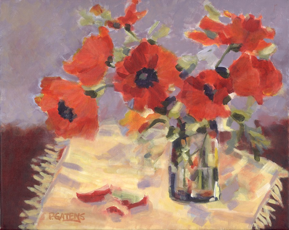 """Poppy Spray"" original fine art by Pamela Gatens"