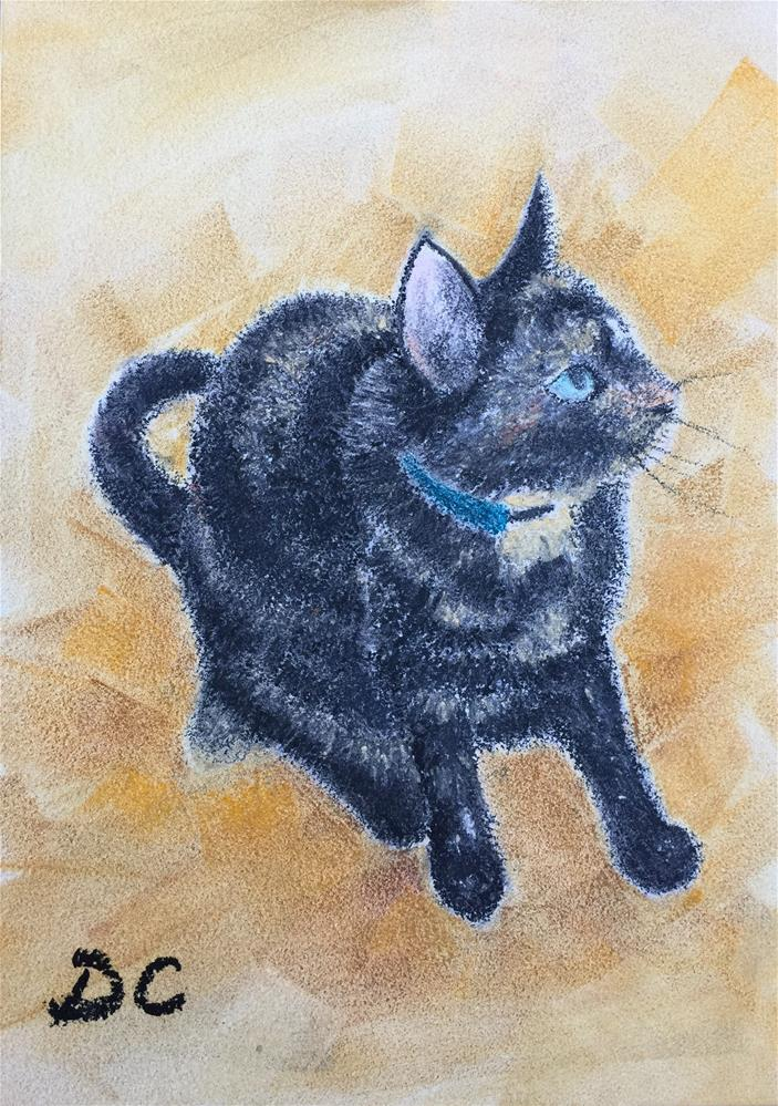 """Kitty"" original fine art by Diana Chang"
