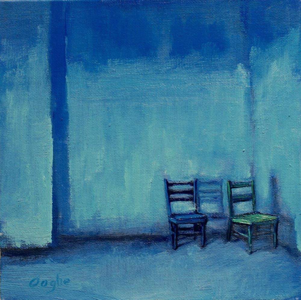 """Blue"" original fine art by Angela Ooghe"