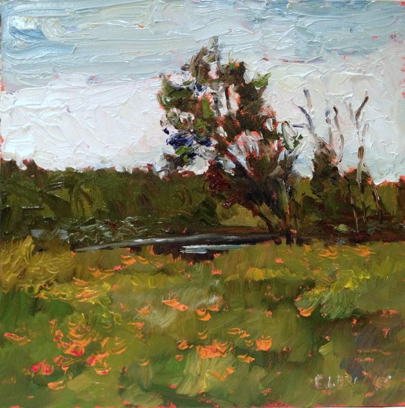"""En Provence, Day 54"" original fine art by Claudia L Brookes"
