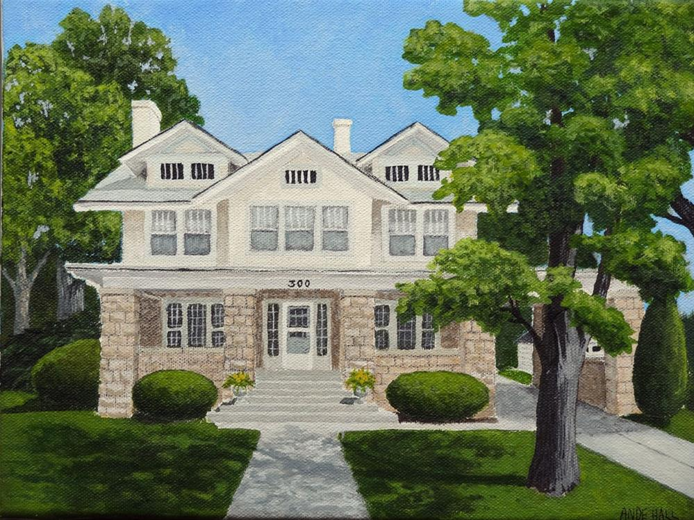 """Our house 3"" original fine art by Ande Hall"