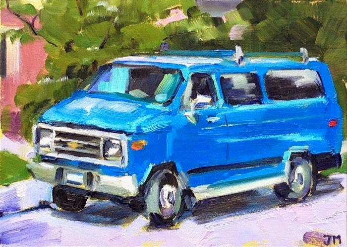 """Tom Vasta's Van"" original fine art by Jessica Miller"