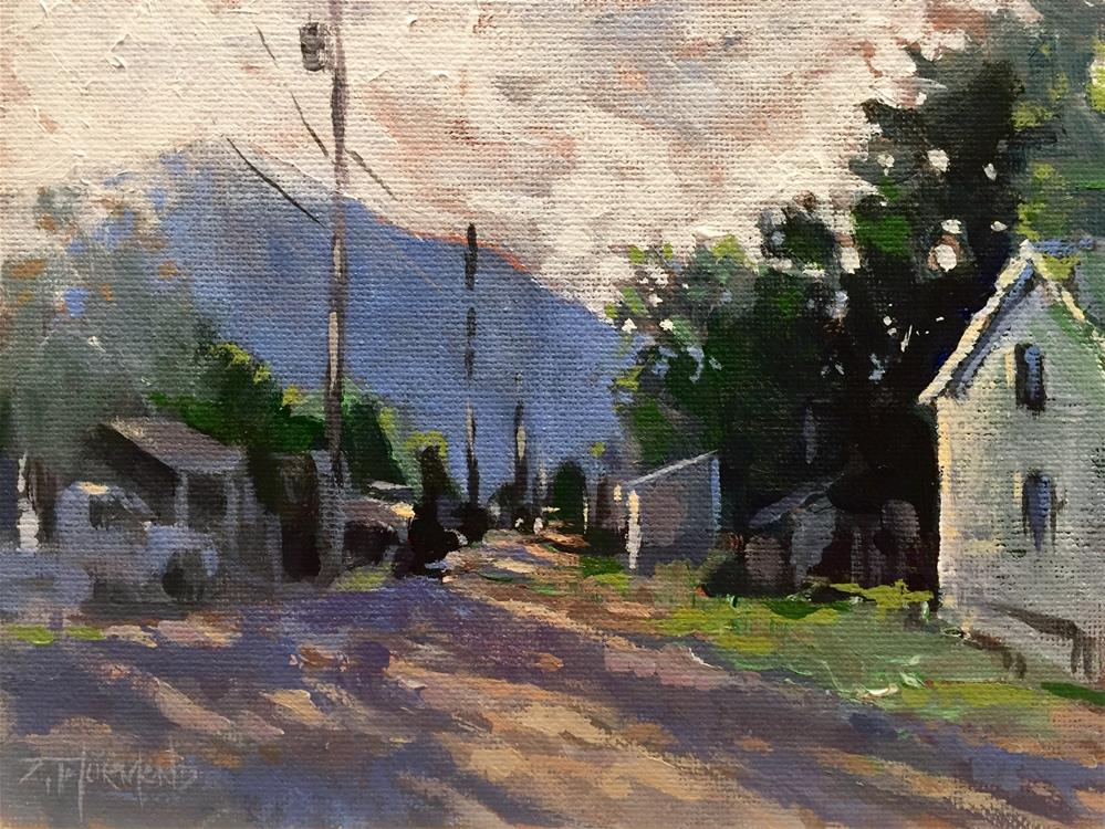 """Crested Butte Alley"" original fine art by Zack Thurmond"
