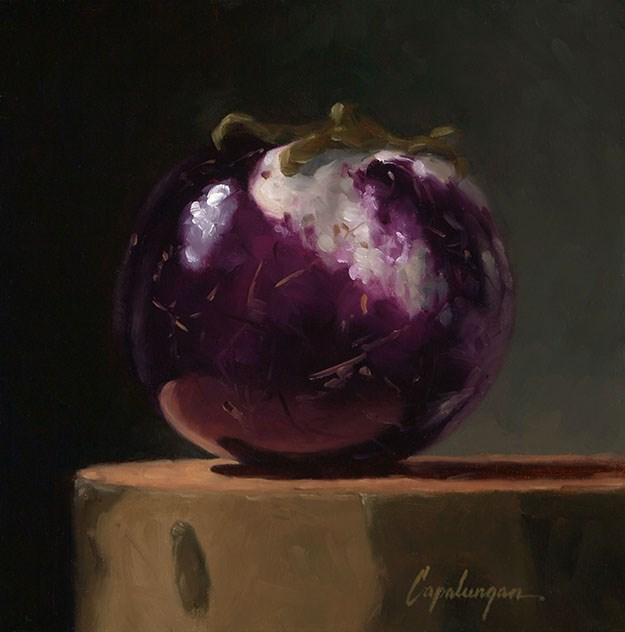 """Sicilian Eggplant on Sycamore"" original fine art by David Capalungan"