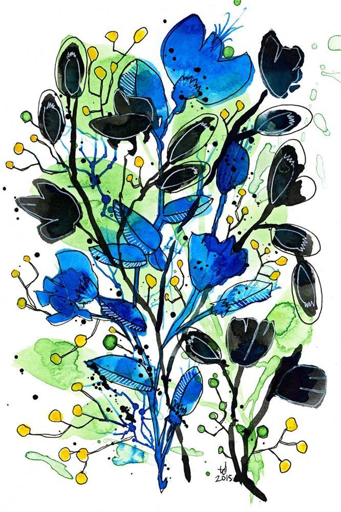 """Black and Blue"" original fine art by Tonya Doughty"