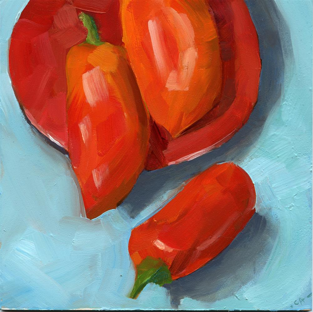 """Hot Plate"" original fine art by Cynthia Armstrong"