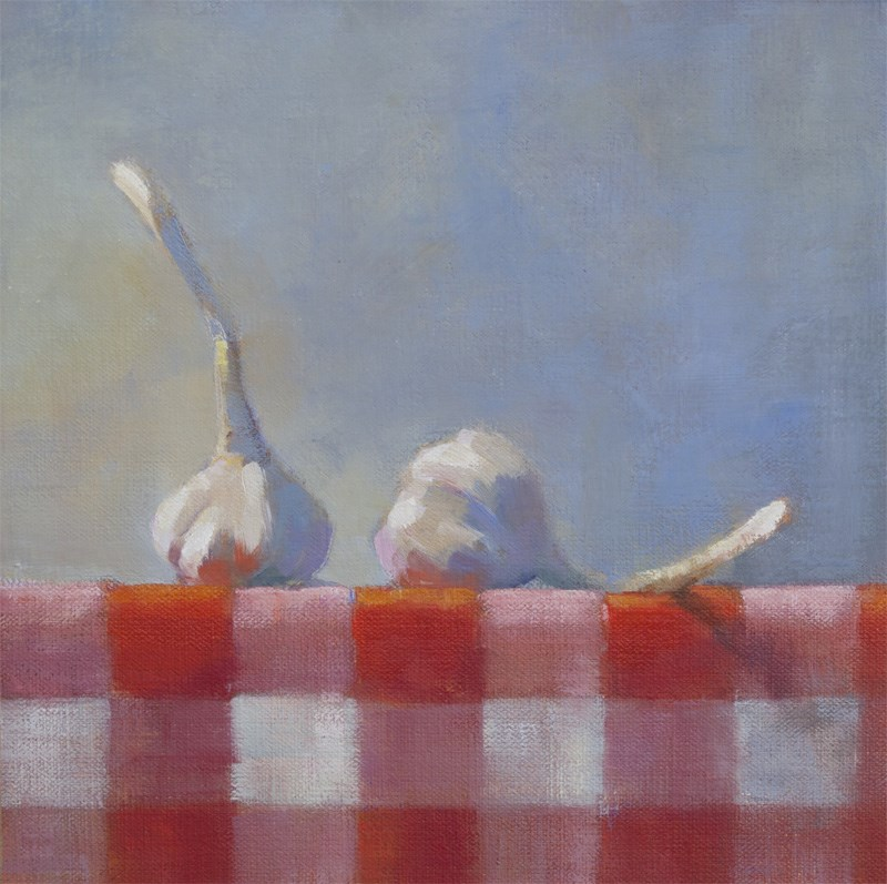 """Garlic & Gingham"" original fine art by Nancy  Spinadel"