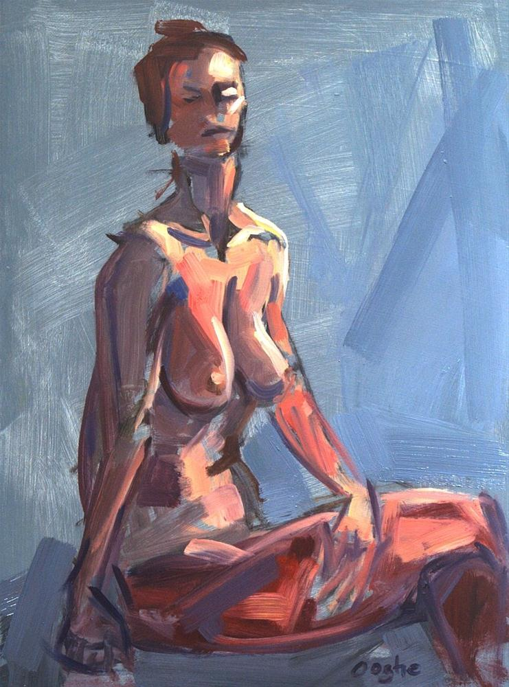 """Kaleidoscope Nude"" original fine art by Angela Ooghe"
