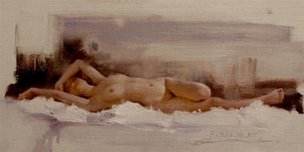 """Human body oil painting(3)"" original fine art by fengshi jin"