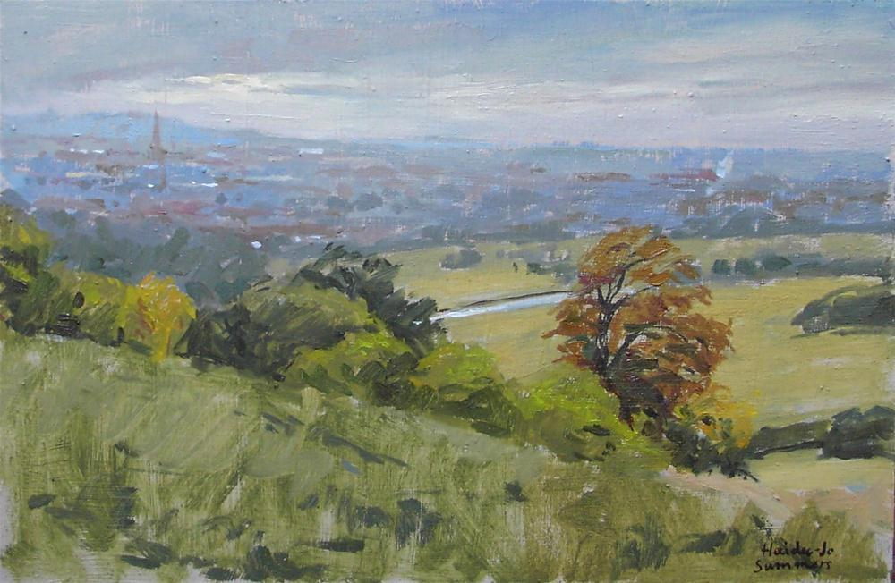"""Looking over Grantham"" original fine art by Haidee-Jo Summers"