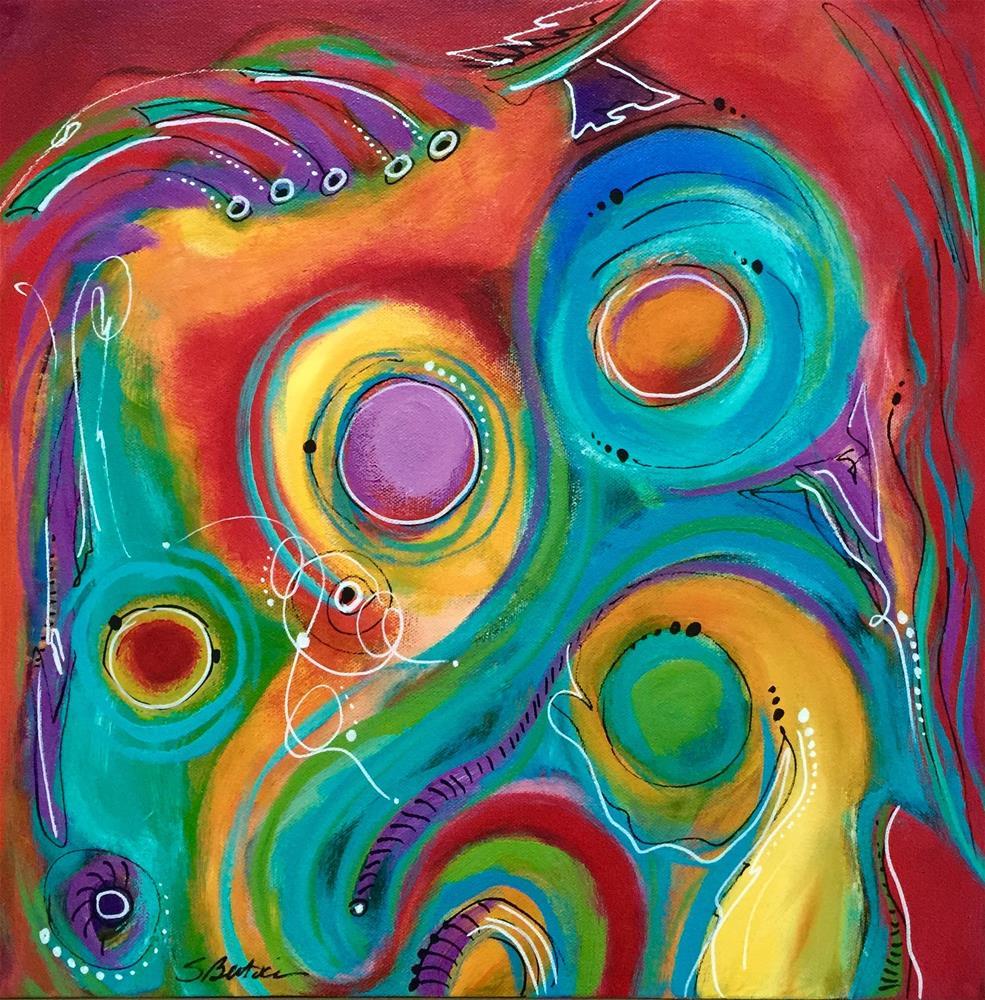 """Party"" original fine art by Susan Bertocci"