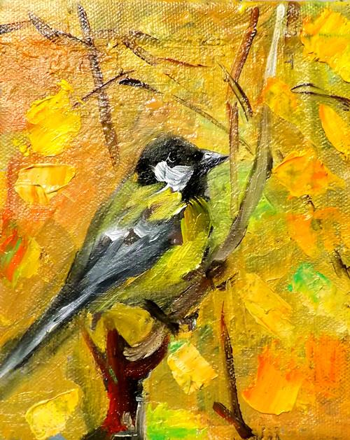 """BIRD,N4"" original fine art by Run-      Zhang Zane"