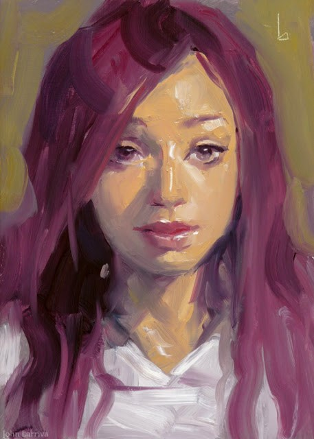 """Puce"" original fine art by John Larriva"